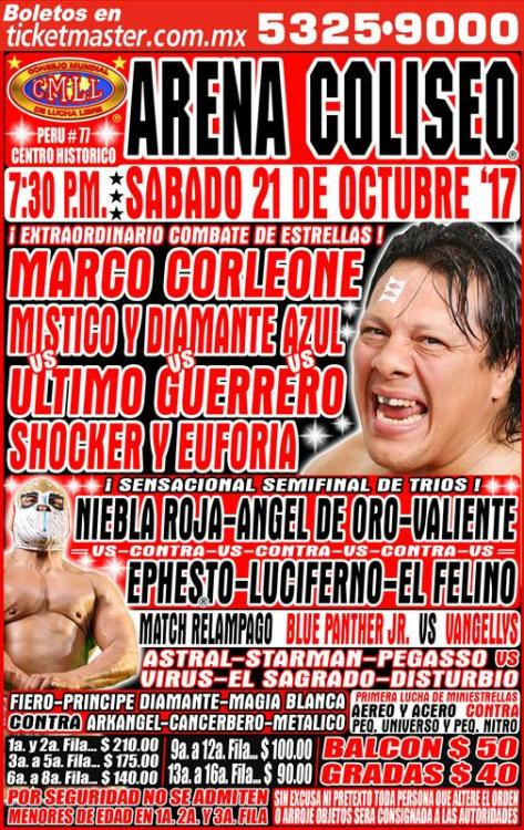CMLL Sabados De Coliseo (October 21, 2017)