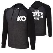 Kevin Owens KO Fight Unisex Lightweight Raglan Full-Zip Hoodie Sweatshirt