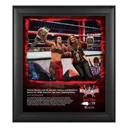 Shayna Baszler & Nia Jax WrestleMania 37 15x17 Commemorative Plaque