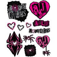 AJ Lee Love Decals