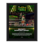 Naomi Money in the Bank 2017 10 x 13 Commemorative Photo Plaque