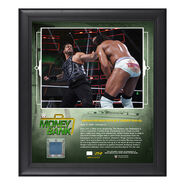 Roman Reigns Money in The Bank 2018 15 x 17 Framed Plaque w Ring Canvas