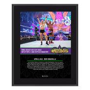Ronda Rousey & Kurt Angle WrestleMania 34 10 x 13 Photo Plaque