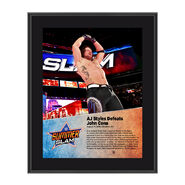 AJ Styles SummerSlam 2016 10 x 13 Photo Plaque
