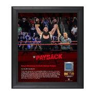 Braun Strowman Payback 2017 15 x 17 Framed Plaque w Ring Canvas