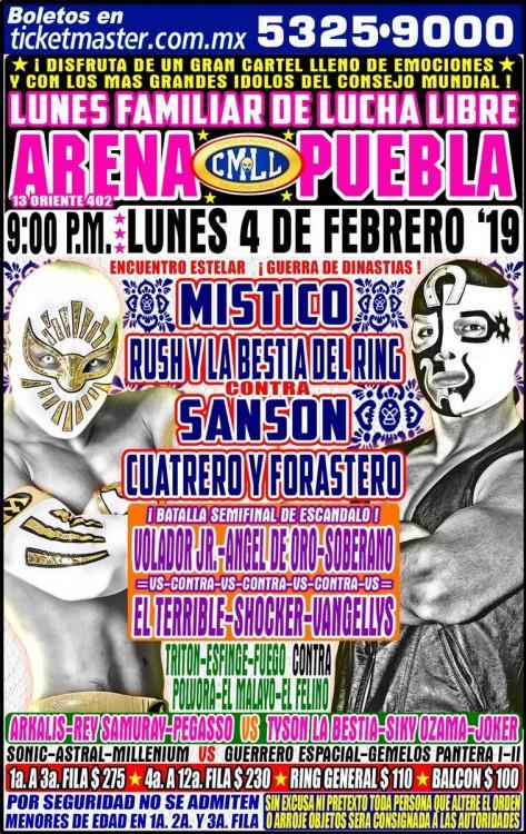CMLL Lunes Arena Puebla (February 4, 2019)