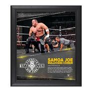 Samoa Joe NXT TakeOver Brooklyn 15 x 17 Photo Collage Plaque