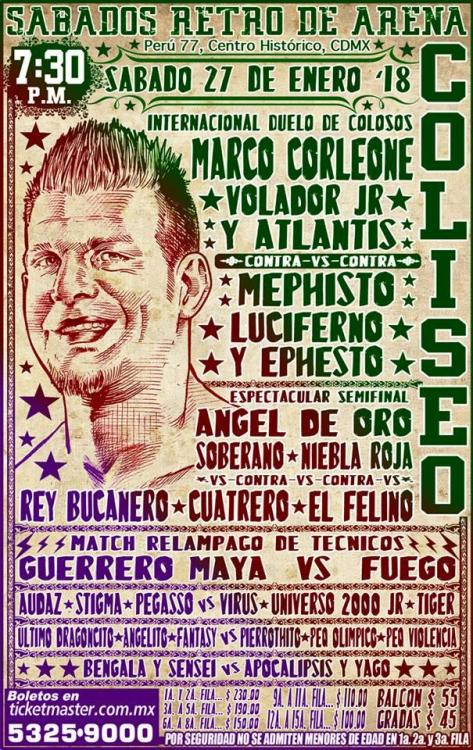 CMLL Sabados De Coliseo (January 27, 2018)