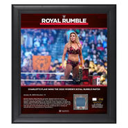 Charlotte Flair Royal Rumble 2020 15x17 Limited Edition Plaque