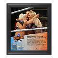 Nikki Bella, Alexa Bliss, Natalya SummerSlam 2016 15 x 17 Framed Plaque w Ring Canvas