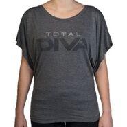 Total Diva Women's Tri-Blend Draped Sleeve Shirt