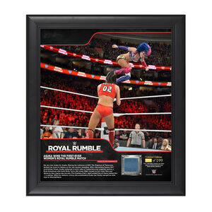 Asuka Royal Rumble 2018 15 x 17 Framed Plaque w Ring Canvas.jpg