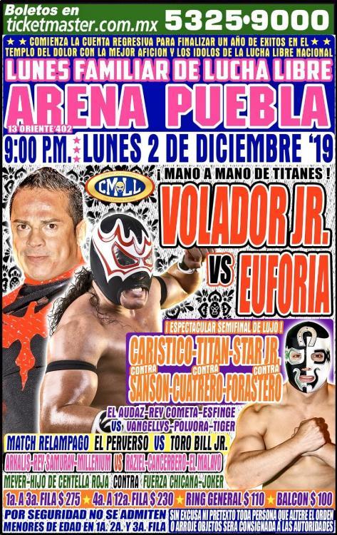 CMLL Lunes Arena Puebla (December 2, 2019)