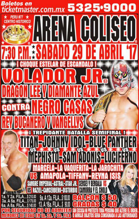 CMLL Sabados De Coliseo (April 29, 2017)