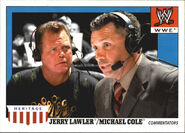 2008 WWE Heritage IV Trading Cards (Topps) Jerry Lawler & Michael Cole 73
