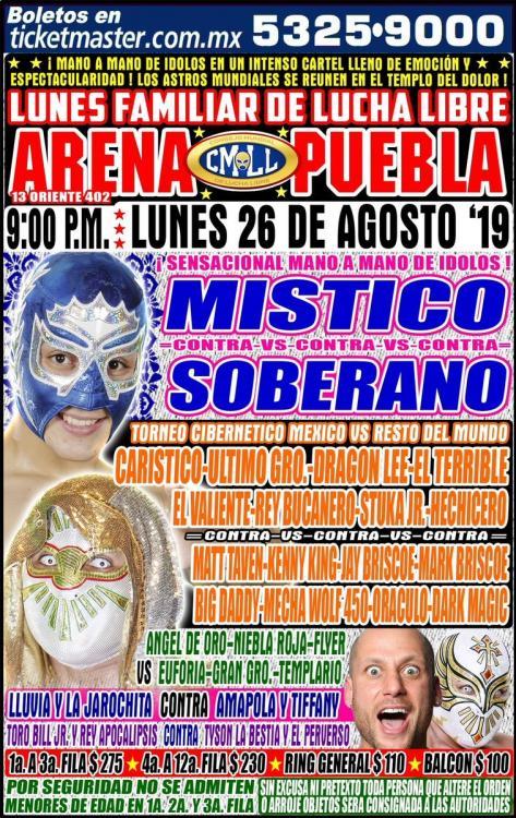 CMLL Lunes Arena Puebla (August 26, 2019)