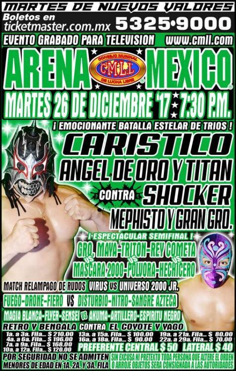CMLL Martes Arena Mexico (December 26, 2017)