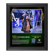 AJ Styles Money In The Bank 2016 15 x 17 Framed Photo w Ring Canvas