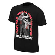 Braun Strowman & Little Kid Nicholas Tag Team Champions Youth T-Shirt