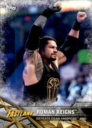 2017 WWE Road to WrestleMania Trading Cards (Topps) Roman Reigns 30