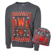 NWo Ugly Holiday Sweatshirt & Beanie Package