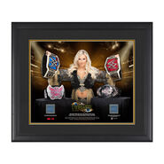 Charlotte Flair Makes History 23 x 27 Framed Plaque w Ring Canvas