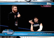 2019 WWE Road to WrestleMania Trading Cards (Topps) Kevin Owens and Sami Zayn 63