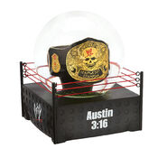 Stone Cold Smoking Skull Championship Collectible Water Globe