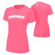Hulk Hogan Hulkamania Courage Conquer Cure Pink Women's T-Shirt