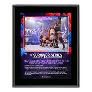 Men's Elimination Match Survivor Series 2020 10 x 13 Commemorative Plaque