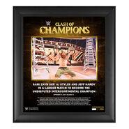 Sami Zayn Clash of Champions 2020 15 x 17 Commemorative Plaque