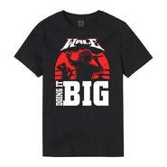 Wale X WrestleMania 37 Doing it BIG Black & Red T-Shirt