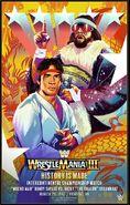 WrestleMania III Ricky Steamboat vs Randy Savage Legendary Moments Poster