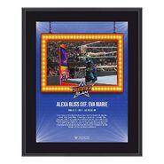 Alexa Bliss SummerSlam 2021 10x13 Commemorative Plaque