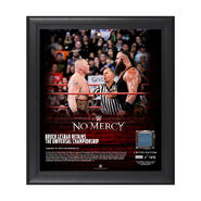 Brock Lesnar No Mercy 2017 15 x 17 Framed Plaque w Ring Canvas