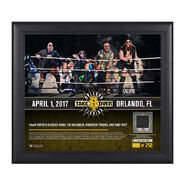 SAnitY NXT TakeOver Orlando 15 x 17 Framed Plaque w Ring Canvas