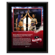 WrestleMania 36 Bayley 10 x 13 Limited Edition Plaque