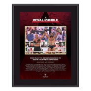 Drew McIntyre Royal Rumble 2021 10 x 13 Commemorative Plaque