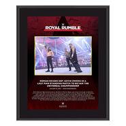 Roman Reigns Royal Rumble 2021 10 x 13 Commemorative Plaque