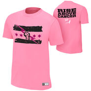 CM Punk Rise Above Cancer Pink Authentic T-Shirt