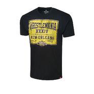 WrestleMania 34 Sportiqe Black Vintage T-Shirt