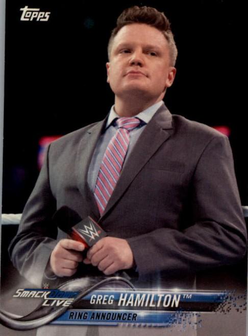 2018 WWE Wrestling Cards (Topps) Greg Hamilton (No.35)