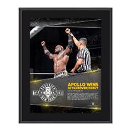 Apollo Crews NXT TakeOver Brooklyn 10.5 x 13 Photo Collage Plaque