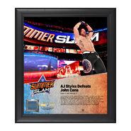 AJ Styles SummerSlam 2016 15 x 17 Framed Plaque w Ring Canvas