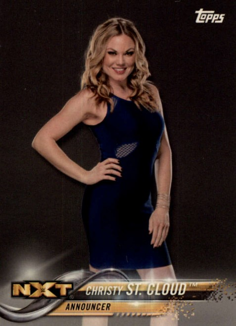2018 WWE Wrestling Cards (Topps) Christy St. Cloud (No.25)