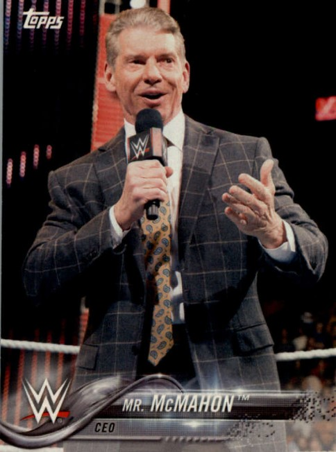 2018 WWE Wrestling Cards (Topps) Mr. McMahon (No.63)
