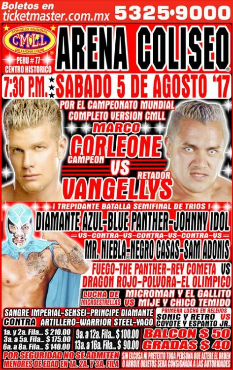 CMLL Sabados De Coliseo (August 5, 2017)