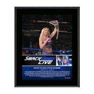 Charlotte Flair Makes History 10 x 13 Commemorative Photo Plaque
