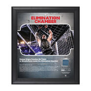 Roman Reigns Elimination Chamber 2018 15 x 17 Framed Plaque w Ring Canvas