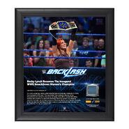 Becky Lynch Backlash 2016 15 x 17 Framed Plaque w Ring Canvas